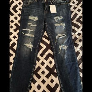 Kan Can Denim Jeans Distressed Plus Size 2XL NEW